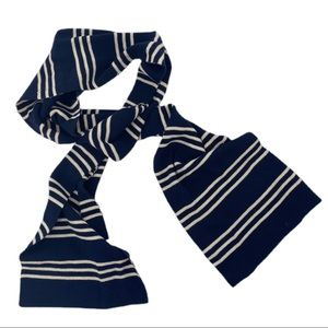 BROOKS BROTHERS Men's Blue & White Striped Scarf